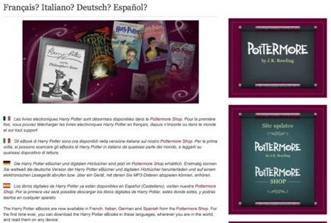 Libros electrónicos de Harry Potter en español