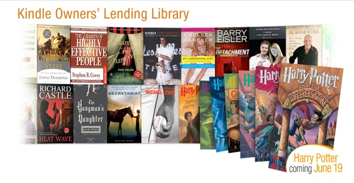 Los e-books de Harry Potter entran al programa Kindle Owners' Lending Library