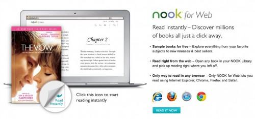 Nook for Web, plataforma de lectura en línea