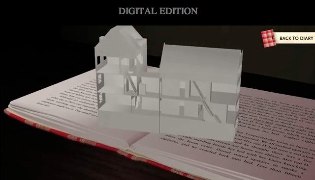 El Diario de Ana Frank en libro interactivo