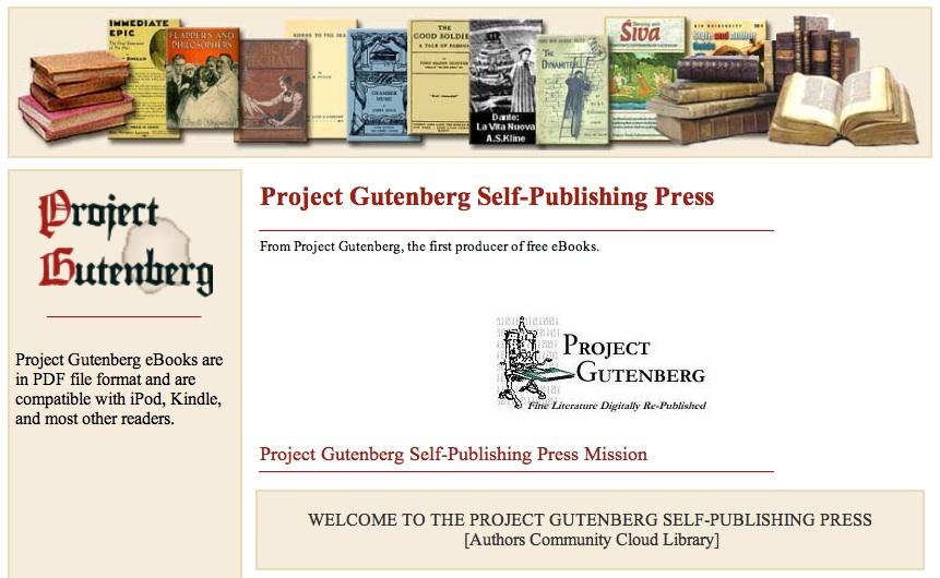Proyecto Gutenberg entra en el mood autoedición