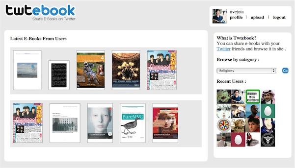 Twtebook, para compartir libros electrónicos en twitter