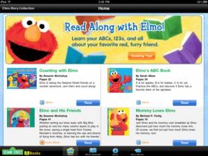 El libro de Elmo en una aplicación para iPad