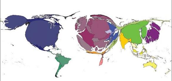 Mapa del mundo de la edición