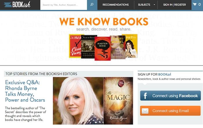 Bookish, nueva web para lectores