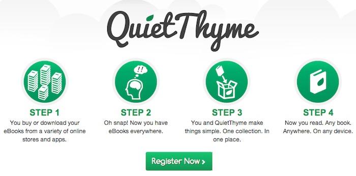 QuietThyme: estantería virtual para todos nuestros e-books
