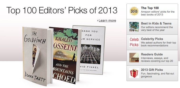 mejores libros 2013 amazon