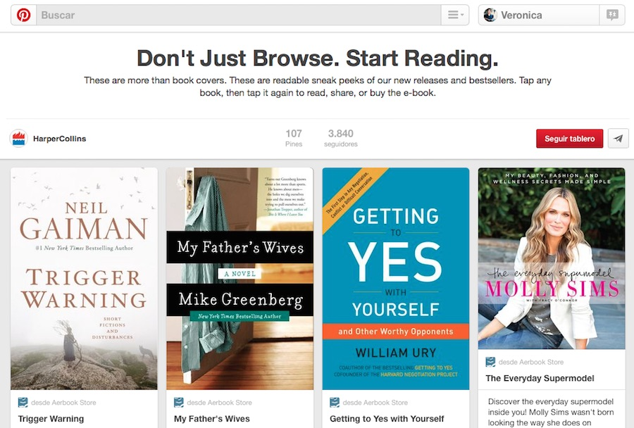 harpercollins and pinterest