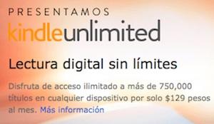 Kindle Unlimited llega a México