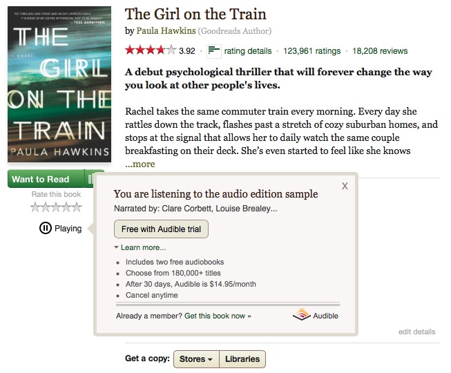 sample audiobooks on goodreads