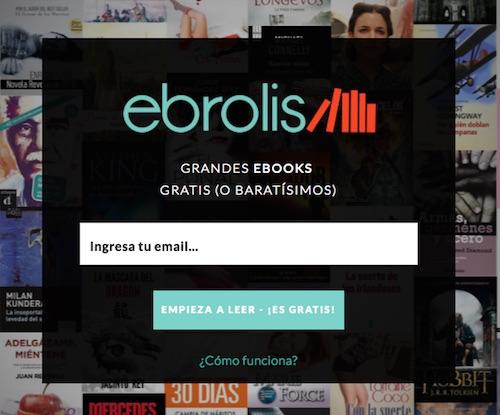 Ebrolis, recomendación de libros a través del correo electrónico
