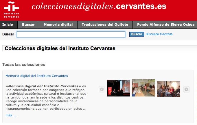 Colecciones Digitales, el archivo del Instituto Cervantes al alcance de todos