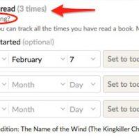 Goodreads añade la opción relectura