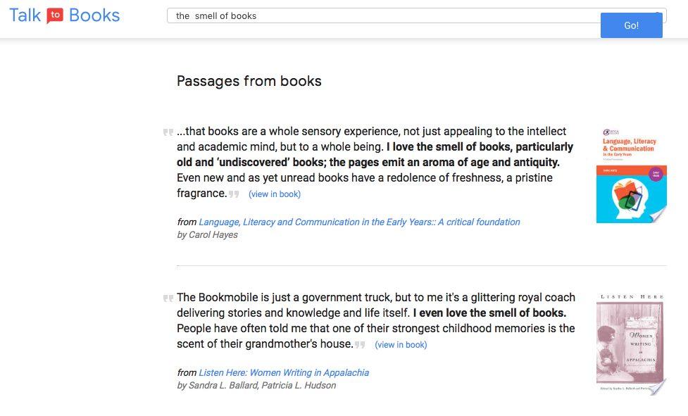 Talk to Books de Google