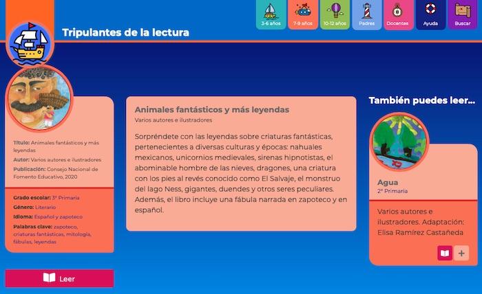Tripulantes de la Lectura, biblioteca digital infantil y juvenil