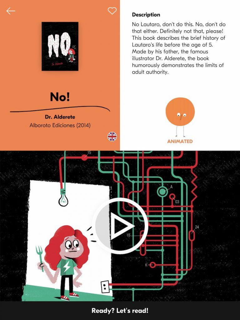 Piboco, app de lectura de álbum ilustrado